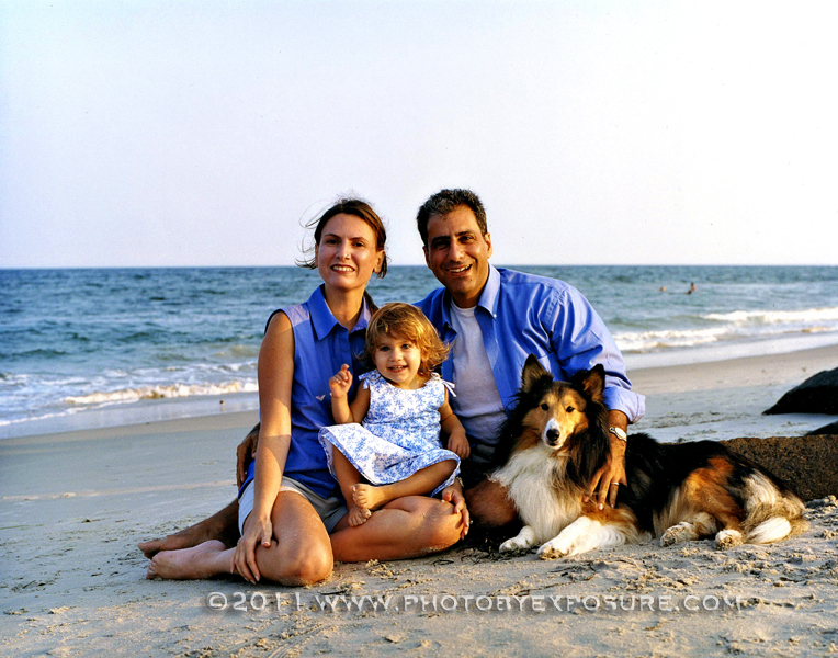 Family Beach Portrait, Dog Portrait